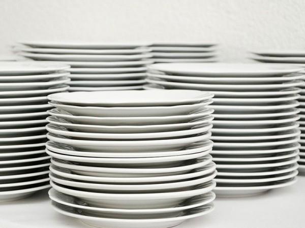 Teller und Besteck inkl. Reinigung *
